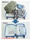 圧縮袋 衣類 ボタニカル M3枚セット 衣類袋 衣類用収納 ( 収納 旅行袋 3枚入り 収納袋 押すだけ 日本製 出張 クローゼット 衣替え 押入れ収納 押入れ 省スペース 場所を取らない スリム 旅行グッズ トラベル ) 3