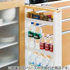 キッチン隙間収納キッチン収納スリムスマートワゴン幅12.5cm奥行55cm4段天板付き組立式