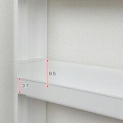 キッチン隙間収納キッチン収納スリムスマートワゴン幅12.5cm奥行55cm5段天板付き組立式