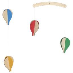 モビール ききゅう 木製 北欧 nico kids 赤ちゃん ( ベッドメリー 木 気球 模型 オーナメント ベビー 子供 メリー 吊るす 飾り キッズ 子供部屋 インテリア おしゃれ シンプル )