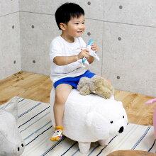 アニマルスツール クマ スツール 座れる動物 椅子 白クマ