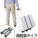 キャリーカート折りたたみ式軽量二輪台車 ( 折りたたみカート アルミ製 旅行カート 荷物運び コンパクト )