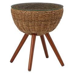 テーブルグランツアバカ素材45cm丸型ナチュラル