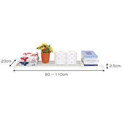 つっぱり棚伸縮棚大取付幅:90〜110cm