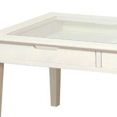 センターテーブルコレクションテーブル引出し2杯inerino幅90cm