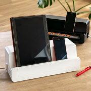 テーブルタップステーション スタンド スマホ・タブレット・モバイル ステーション ケーブル ホルダー コンセント ボックス