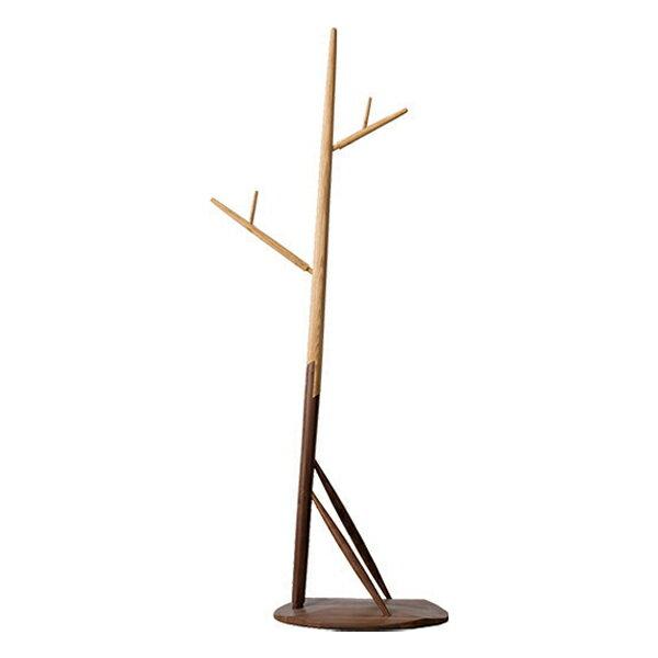 ポールハンガー ナチュラルデザイン 天然木 Kozue 約高さ165cm ( 送料無料 コートハンガー 玄関収納 木製 無垢材 北欧 ウォールナット ウォルナット アッシュ )
