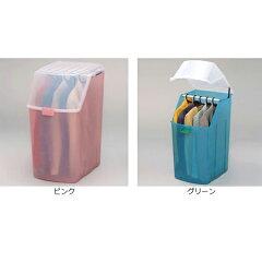 らくらく衣装ケース収納ケースハンガー掛け用同色2個組キャスター付積み重ねハンガー10本付