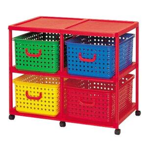 バスケット キャスター おもちゃ ボックス 引き出し ランドリー プラスチック
