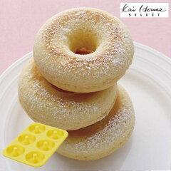 ドーナツ型シリコン製ケーキ型6個取