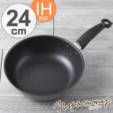 フライパン 貝印 Nyammy ねこの炒め鍋 24cm IH対応