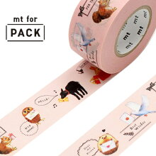 クラフトテープ 粘着テープ mt for PACK 動物たち 幅25mm