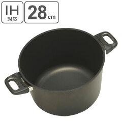 IH対応深型両手鍋バイオタンBIOTAN内径28cm深さ15cm17850