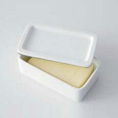 【ポイント最大15倍】匂いや色が移りにくく清潔に使える磁器製のバターケース キッチン小物 バ...