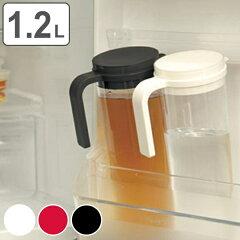 【ポイント最大28倍】冷蔵庫のポケットにすっぽり!横にも置けるシンプルな冷水筒 ピッチャー ...