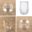 キントー KINTO アイスティーグラス 350ml KRONOS ダブルウォール 二重構造 保温 ガラス製 同色2個セット ( コップ グラス 保冷 電子レンジ対応 食器 カップ ダブルウォールグラス デザートカップ カップ マグ 食洗機対応 ) 3