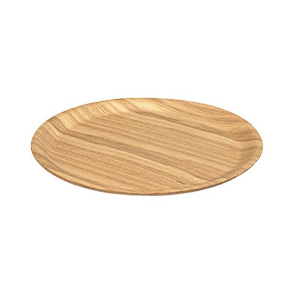 キントーKINTOトレイノンスリップ33cmMウィロー(丸型トレー滑らない木製お盆おしゃれ盆丸ラウンド滑り止めすべり止めカフェ木