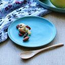 プレート 14cm Blueシリーズ 陶器 食器 笠間焼 日本製 ( 食洗機対応 電子レンジ対応 ケーキ デザート 皿 デザートプレート お皿 小皿 取り分け皿 洋食器 青 トルコブルー おしゃれ )
