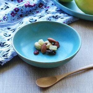 ボウル 14cm Blueシリーズ 陶器 食器 笠間焼 日本製 ( 食洗機対応 電子レンジ対応 皿 小鉢 小皿 デザート デザートプレート お皿 取り皿 深皿 洋食器 青 トルコブルー おしゃれ )