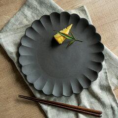 プレート 23cm フローレ 花 輪花 陶器 食器 日本製