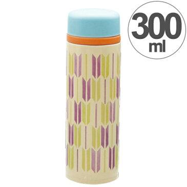 水筒 ソレイユモダン スリムマグボトル 矢絣 300ml ステンレス製 ( ステンレスボトル 直飲み 保温 保冷 ダイレクトボトル 軽量 女性 女子 大人かわいい すいとう 魔法瓶 和 )