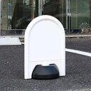 駐車場 看板 スタンド ミニスタンド 軽量 両面表示 ( 標