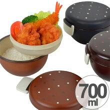 ランチボウル どんぶり弁当箱 2段 Have a Lunch ドット 700ml