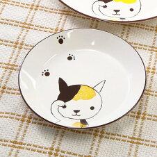 プレート 16cm 小 Helloあにまる ねこ 皿 食器 日本製