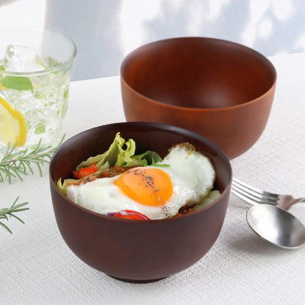 どんぶり 700ml SEE 鉢 プラスチック 食器 日本製 おしゃれ ( 電子レンジ対応 食洗機対応 木製風 丼 木目調 ボウル 丼ぶり 小さめ 麺鉢 カフェ風 割れにくい )
