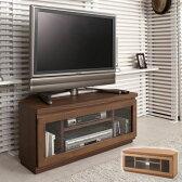 テレビ台 コーナー型 天然木 完成品 幅約90cm ( 送料無料 ローボード TVラック テレビボード TV台 AVボード テレビラック 小型 中型 フラップ扉 )
