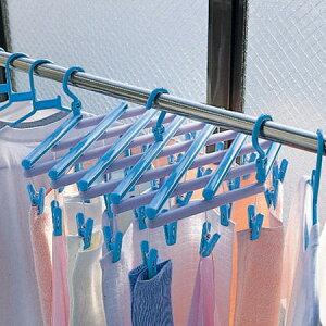 【ポイント最大10倍】サイズ調節できる伸縮タイプの洗濯ハンガー 物干し洗濯ハンガー フリーピ...