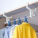 室内物干しフック クロスフック 2個組 鴨居・ドア枠用 伸縮ポール付 洗濯物干し ( 部屋干し…