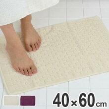 バスマット 足拭きマット Ag+ブリーク タオルバスマット 40×60cm
