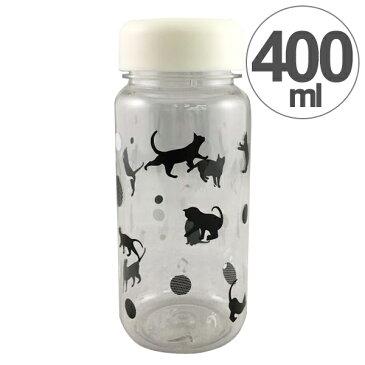 水筒 クリアボトル ウォーターボトル S 音符ネコ 400ml ( すいとう ボトル マグボトル デトックスウォーター フレーバーウォーター スポーツボトル プラスチック 軽量 ねこ 透明 )