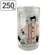 コップ 250ml ガラス パリ ピンク ねこ グラス 食器 日本製