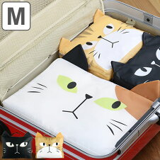 トラベルポーチ 収納バッグ M ネコ