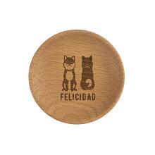 プレート 木製 8cm 柴犬 食器