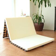 すのこベッド折りたたみすのこマット桐製軽量タイプ3つ折れ式セミダブル
