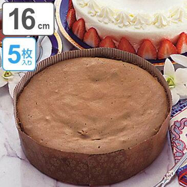 デコレーション型 ケーキ型 丸 紙製 16cm 5枚入 アンテノア ( 紙型 デコレーション焼型 焼き型 製菓グッズ デコレーションケーキ焼型 使い捨て お菓子作り プレゼント )