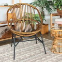 籐 座椅子 椅子 アイアン脚 ラタン製 籐家具 座面高40cm ( 送料無料 ラタン ラタン家具 籐いす ラタンチェア ラタンチェアー 腰かけ チェア チェアー 一人掛け イス 椅子 1人掛け 鉄 アイアン アンティーク アジアン ナチュラル )