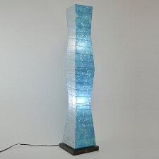 フロアライト 和紙 ラグーンX小倉流紙ブルー 2灯