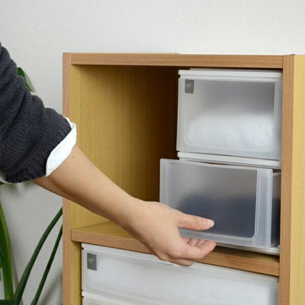 収納ケース ポスデコ A5サイズ 深型2段 カラーボックス用 ( 収納ボックス カラーボックス インナーボックス )
