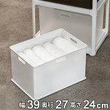 収納ボックス 収納ケース squ+ インボックス L プラスチック 日本製 ( 小物入れ 収納 カラーボックス インナーボックス おもちゃ箱 コンテナ 積み重ね スタッキング 小物収納 インナーケース )