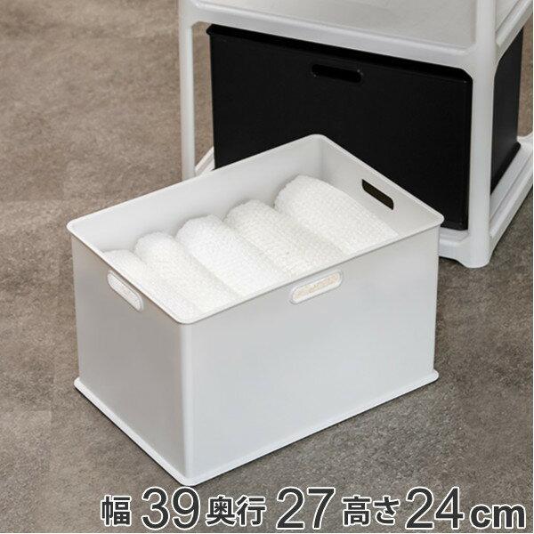 収納ボックス 収納ケース ナチュラ インボックス L プラスチック 日本製 ( 小物入れ 収納 カラーボックス インナーボックス おもちゃ箱 コンテナ 積み重ね スタッキング 小物収納 インナーケース ケース ボックス )