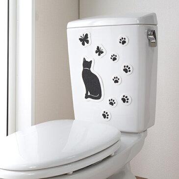 消臭シート 吸着トイレの消臭シート はがせる消臭シート おすわりネコ 日本製 ( トイレ 臭い取り 貼ってはがせる シート 消臭ステッカー 消臭 カテキン トイレタンク 便フタ シール デコ トイレ用品 猫 ネコ )