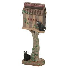郵便ポスト スタンドタイプ 猫 バーレル ( 送料無料 ポスト 郵便受け メールボックス 新聞…