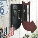 キーボックス EXIT ( 鍵 収納 玄関 ボックス 壁掛け フック 壁掛けフック ウォールフック 壁掛けキーフック 鍵掛け おしゃれ 4連 インテリア雑貨 アメリカン雑貨 ビンテージ ヴィンテージ アメリカンヴィンテージ レトロ )