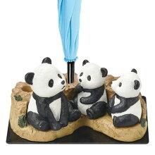 傘立て パンダ親子 3本収納 置物 動物 傘たて アンブレラスタンド