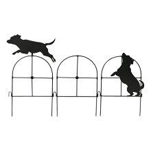 ガーデンフェンス シルエットミニフェンス ガーデニング Dog 犬