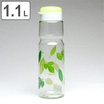 冷水筒 クールポット ガラス製 リーフ 1.1L ( ピッチャー 冷水ポット 麦茶ポット 水差し 1リットル )